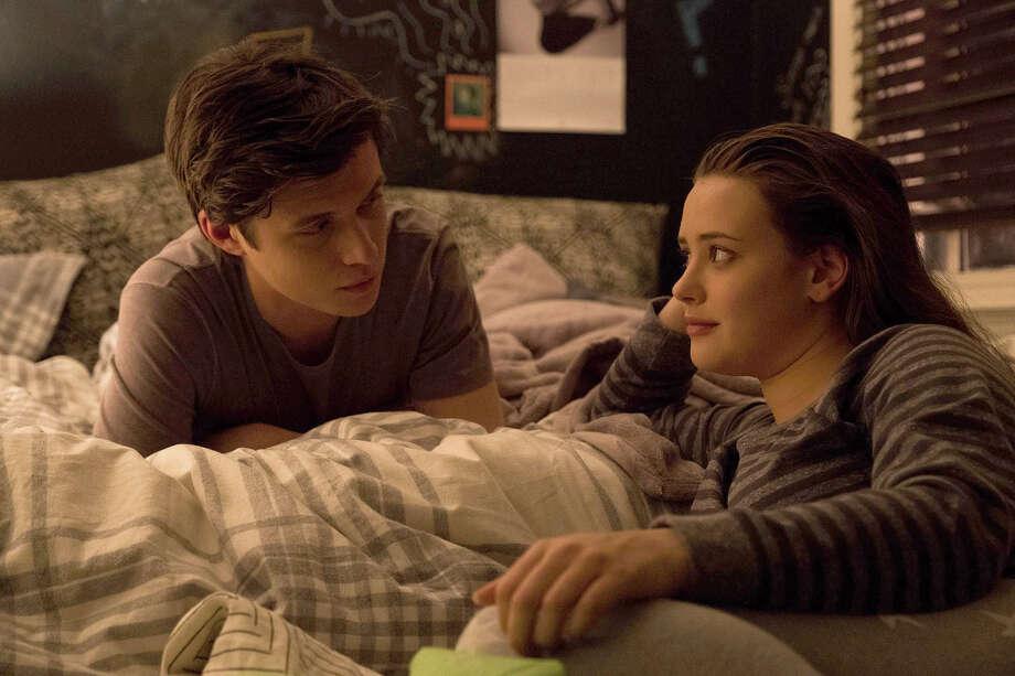 "Simon (Nick Robinson, shown with Katherine Langford, right) plays a gay teen in ""Love, Simon."" Photo: Ben Rothstein. Twentieth Century Fox / TM & © 2017 Twentieth Century Fox Film Corporation."