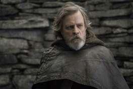 "You kids get off my island! Luke Skywalker (Mark Hamill) just wants to be left alone in ""Star Wars: The Last Jedi."""