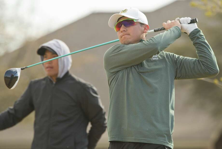 Midland College's Michael Salazar follows his shot 03/13/18 during the final round of the Omega Treating Chemical Green Tree Country Club Invitational at Green Tree Country Club. Tim Fischer/Reporter-Telegram Photo: Tim Fischer/Midland Reporter-Telegram
