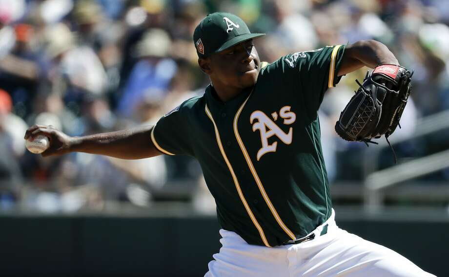 Jharel Cotton went 9-10 with a 5.58 ERA as a rookie. Photo: Chris Carlson, Associated Press