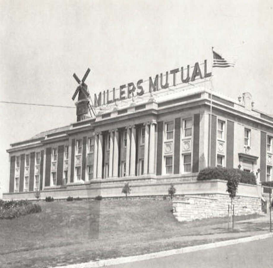 The Millers' Mutual Insurance Association of Illinois had one of the more visible buildings in all of Alton, sitting on a perch near City Hall and Marquette Catholic High School in the heart of the city. Last October, the iconic letters and landmark windmill were removed, and in January, Marquette announced plans for STEM classrooms in the former insurance building. Before it was repurposed, the building was home to Millers' Mutual, which served the Alton area since 1877. A multiple line company, they wrote practically all forms of property and casualty insurance for homes, autos and businesses. Photo: File Photo