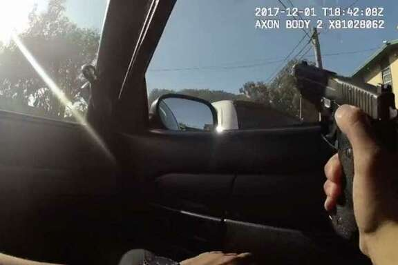 Body-camera footage released during a town hall meeting in December showed rookie San Francisco police officer Chris Samayoa fatally shooting an unarmed carjacking suspect, 42-year-old Keita O'Neil.
