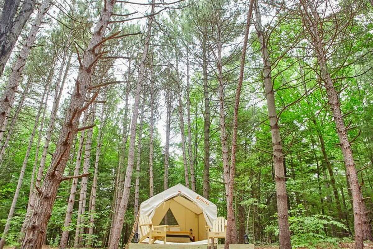 A campsite in Hannacroix, a hamlet in Greene County, where Tentrr users can book a stay.