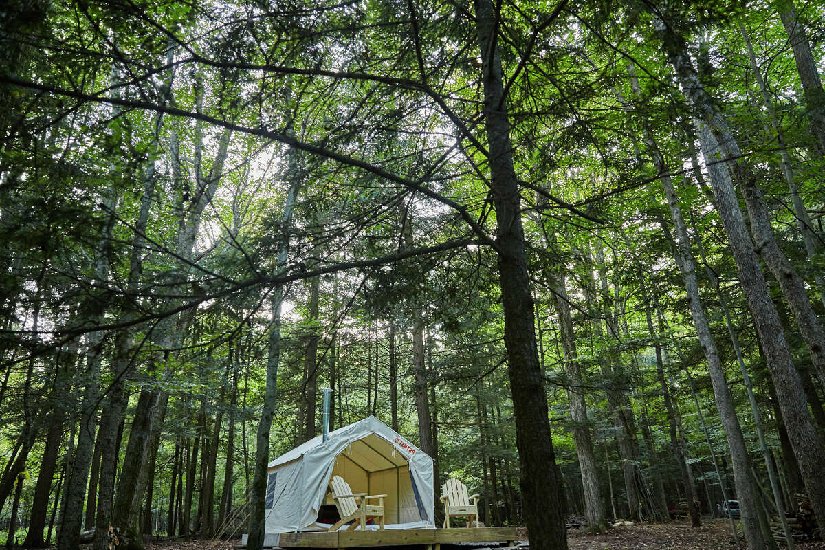 A Tentrr campsite in Sharon Springs, a village in Schoharie County.