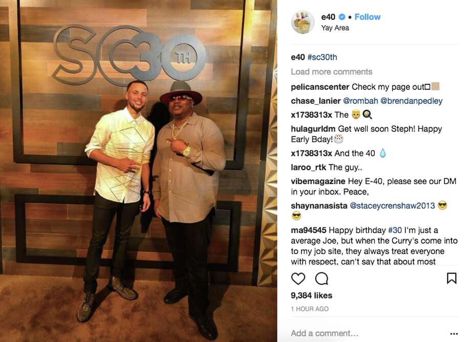 Photos from Stephen Curry's 30th birthday party on March 12, 2018. Photo: Screenshot Via Instagram