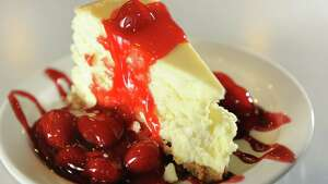 Homemade Cheesecake with strawberries on Tuesday, April 9, 2013, at the Gateway Diner in Albany, N.Y. (Cindy Schultz / Times Union)