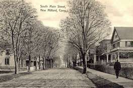 """South Main Street in New Milford has evolved over the years. This turn-of-the-century era postcard photo by P.M. Cassedy looks south on the well-known street. If you have a """"Way Back When"""" photo to share, contact Deborah Rose at drose@newstimes.com or 860-355-7324."""