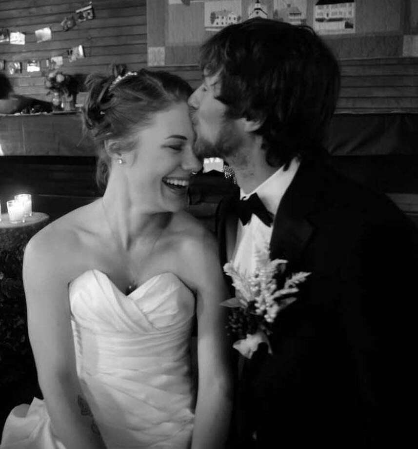 Gabrielle Laukevicz and Shane Johnson were married Feb. 3. Photo: Contributed Photo / Contributed Photo / The News-Times Contributed