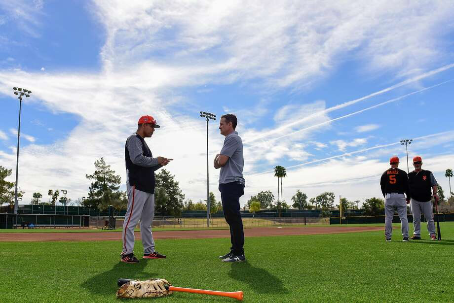 """In a 12-year playing career that included a memorable 2002 stop with the pennant-winning Giants, David Bell, now the Giants' new farm director, was the archetype of """"grit."""" Photo: Jennifer Stewart, Special To The Chronicle"""