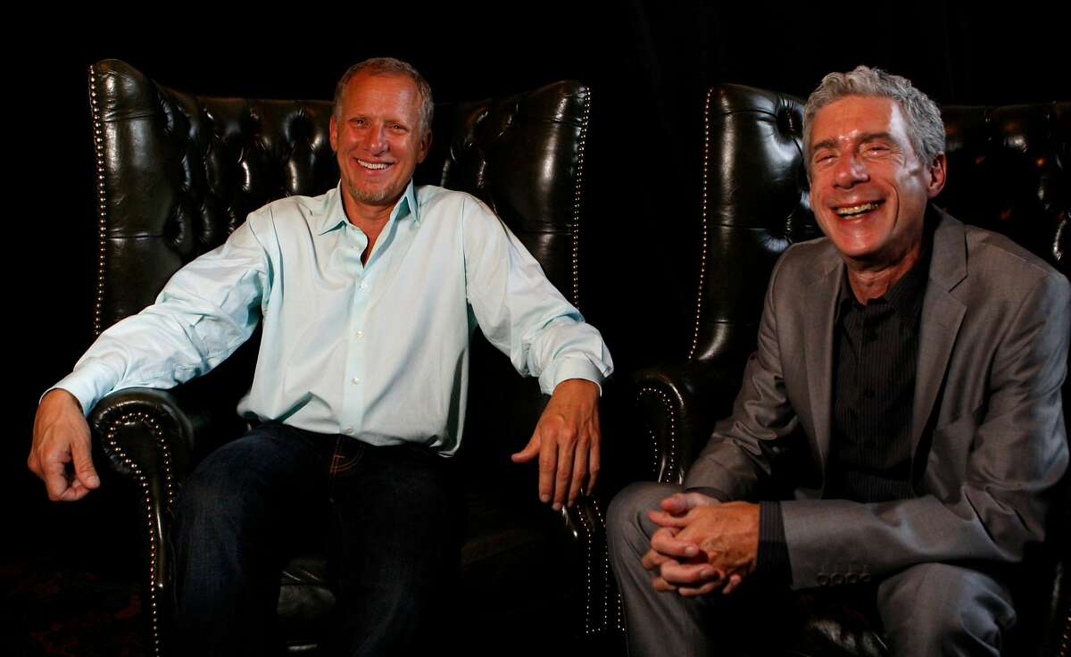 Film Directors Rob Epstein (left) and Jeffery Friedman sit for a portrait at the Castro Theater during the premiere of their new film, Howl on June 27, 2010 in San Francisco. Epstein and Friedman were chosen for the George Gund III Craft of Cinema Award.