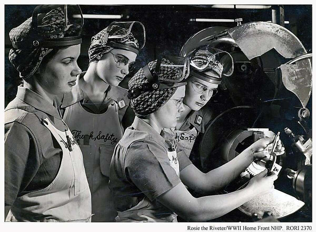 Images in the collection of the�Rosie the Riveter WWII Home Front National Historical Park show Bay Area women who were part of the war effort, working at the Kaiser Shipyards and other places.
