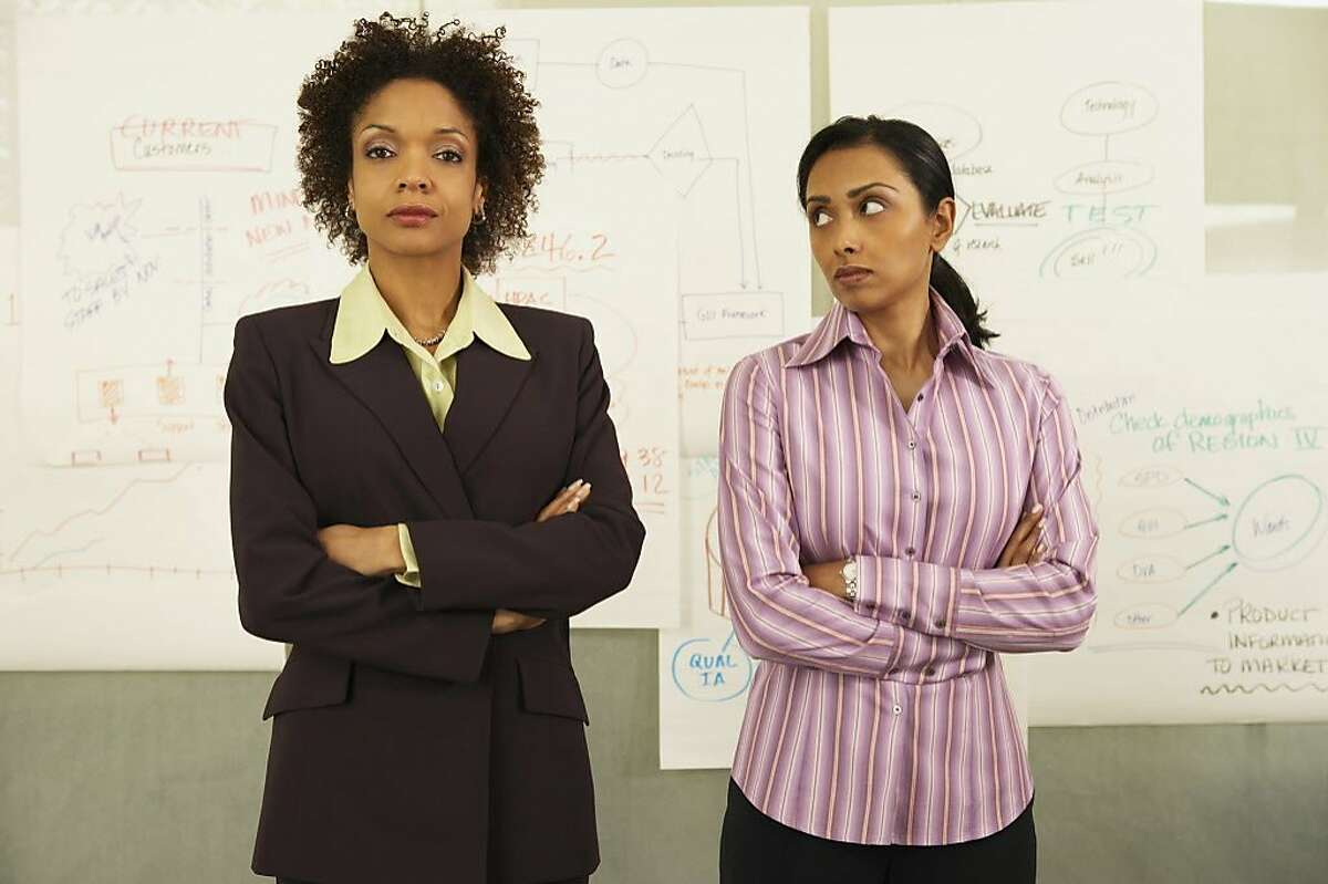 A businesswoman doesn't want a co-worker to steal her style.