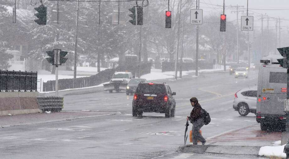 Snow falls on Central Ave. on Tuesday, March 13, 2018, in Albany, N.Y.     (Paul Buckowski/Times Union) Photo: STAFF, Albany Times Union / (Paul Buckowski/Times Union)