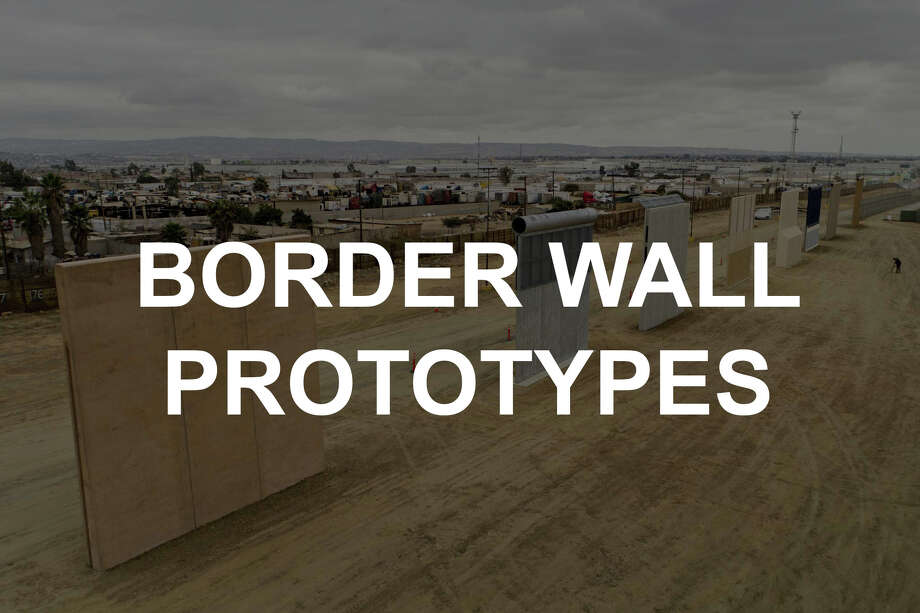 See the wall prototypes in San Diego. Photo: Daniel Acker, Bloomberg