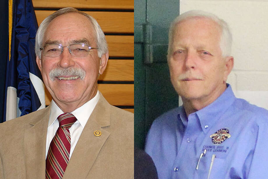 Phil Cayten, left, and Bruce Leamon are the only two Pasadena City Council members who still receive a $200 increase in their monthly vehicle allowance.