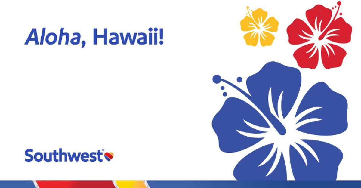 An image tweeted out by Southwest Airlines announcing new flights to Hawaii