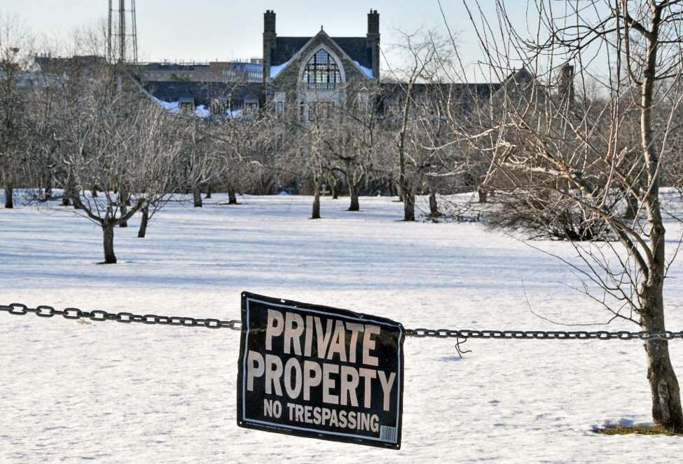 Llenroc, the mansion owner by the late Albert Lawrence, as seen Friday afternoon. The property just sold for $1.9 million, a fraction of the $12 million real estate agents originally wanted to sell it for. (John Carl D'Annibale / Times Union)