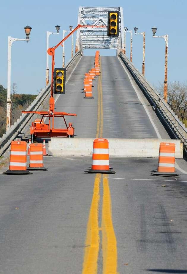 Businesses affected by last month's closing of the Champlain Bridge in Crown Point are eligible for economic assistance.   (Lori Van Buren / Times Union) Photo: LORI VAN BUREN