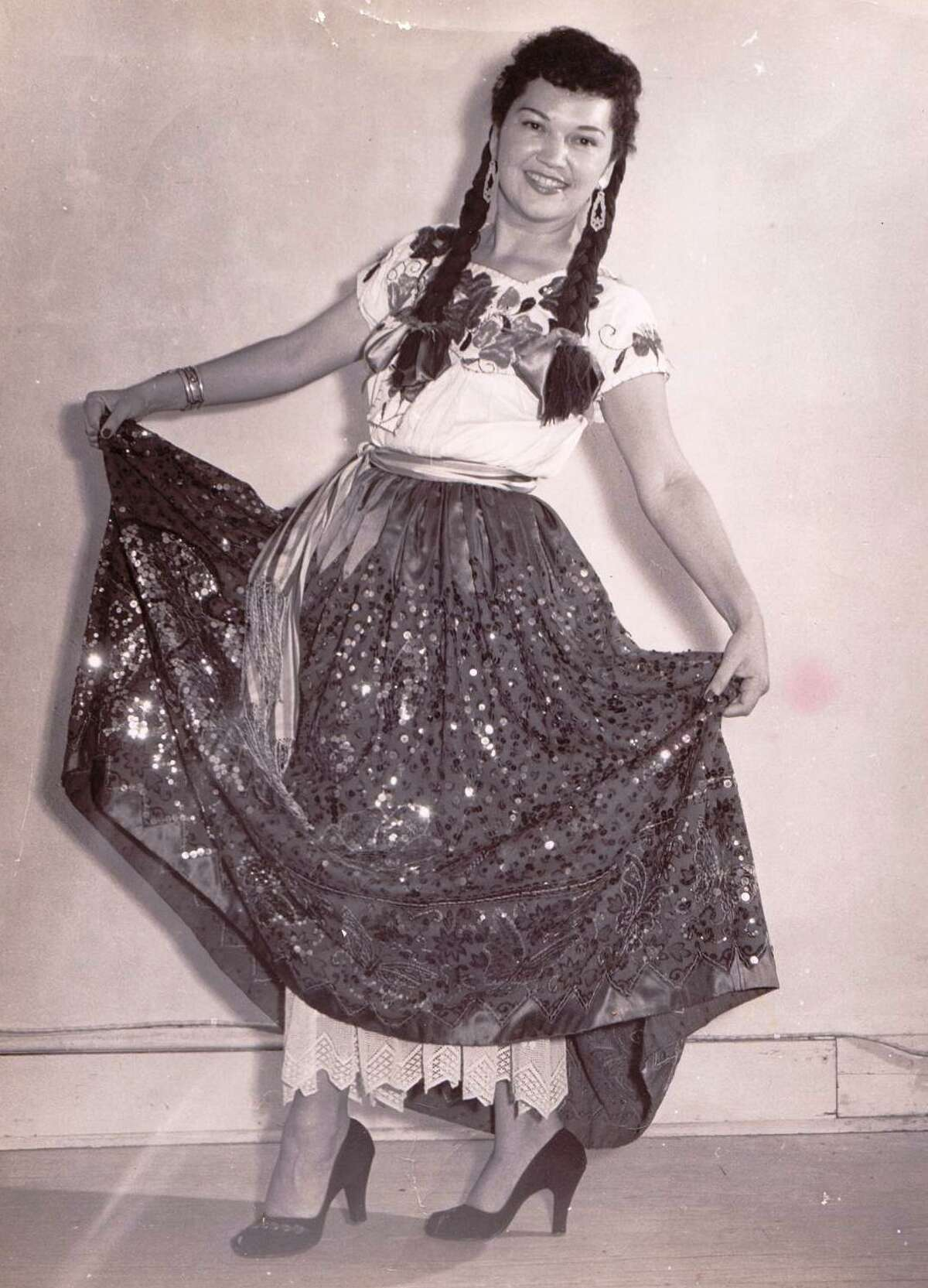 Nelda Drury posed for this photo in the 50s, which is when she founded the San Antonio Folk Dance Festival.