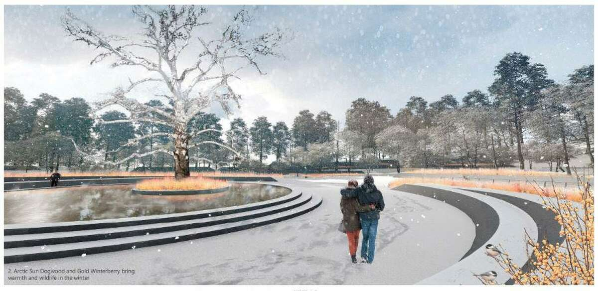 A memorial to Sandy Hook massacre victims with a sacred sycamore in the center is among the favorite designs of families who lost loved ones in the 2012 tragedy. The Clearing is one of 13 semifinal designs under review and now open for public input.
