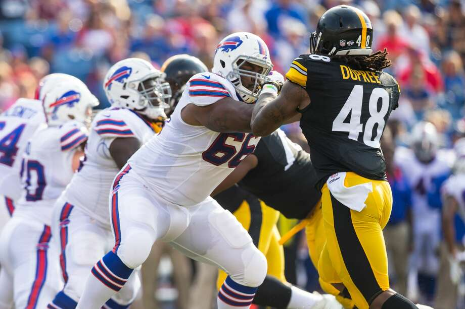 ORCHARD PARK, NY - AUGUST 29:  Seantrel Henderson #66 of the Buffalo Bills tries to stop Bud Dupree #48 of the Pittsburgh Steelers during a preseason game on August 29, 2015 at Ralph Wilson Stadium in Orchard Park, New York.  Buffalo defeats Pittsburgh 43-19.  (Photo by Brett Carlsen/Getty Images) Photo: Brett Carlsen/Getty Images