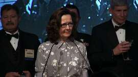 "This October 2017 videograb still image obtained March 13, 2018 courtesy of the OSS Society shows Gina Haspel Deputy Director of the CIA speaking at the 2017 William J. Donovan Award Dinner in Washington,DC. Gina Haspel, nominated by President Donald Trump to lead the CIA, is a black ops veteran who once ran a secret interrogation operation in Thailand accused of torturing detainees. If approved by the Senate, Haspel would be the first woman ever to run the Central Intelligence Agency.Despite a controversial past, her rise is not surprising -- she previously served as CIA deputy director and led worldwide undercover spying operations, a CIA mission that has gained renewed importance in recent years.  / AFP PHOTO / OSS Society / Handout / RESTRICTED TO EDITORIAL USE - MANDATORY CREDIT ""AFP PHOTO / OSS SOCIETY/HANDOUT"" - NO MARKETING NO ADVERTISING CAMPAIGNS - DISTRIBUTED AS A SERVICE TO CLIENTS  HANDOUT/AFP/Getty Images"