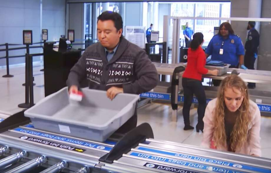 Beware the filthy bins at TSA security checkpoints - they carry more than your luggage(Image: Delta)