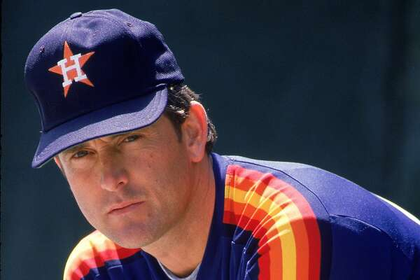 UNDATED: Pitcher Nolan Ryan #34 of the Houston Astros poses for a photo circa 1980-88. (Rich Pilling/MLB Photos via Getty Images)