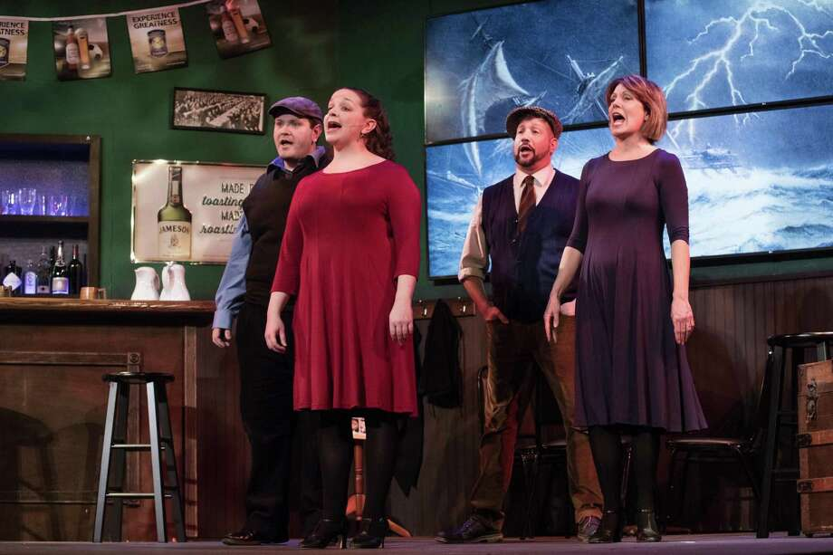 """Frank McCourt's """"The Irish .. and How they Got That Way"""" wraps this weekend at the Warner Theatre. From left are Joshua Newey, L. Nagel, Bret Bisaillon and Susan Kulp. Photo: Photo By Mandi Martini"""