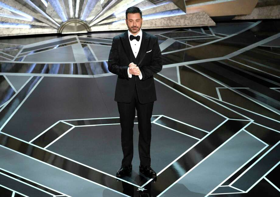 Jimmy Kimmel speaks at the Oscars on Sunday, March 4, 2018, at the Dolby Theatre in Los Angeles. (Photo by Chris Pizzello/Invision/AP) Photo: Chris Pizzello / 2018 Invision
