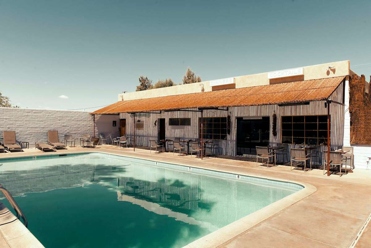 The pool at the 29 Palms Inn, Courtesy Christopher Michel-Flickr