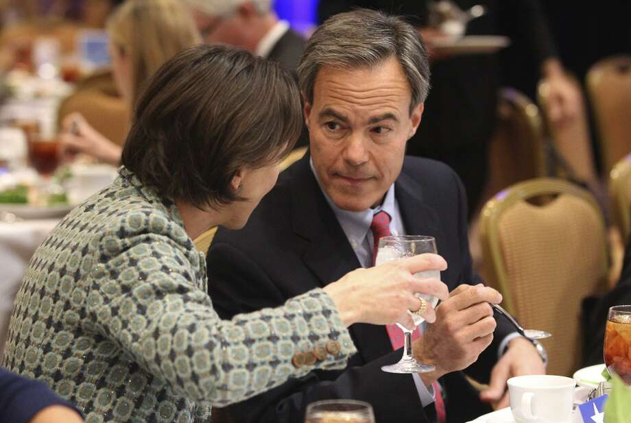 Outgoing Texas House Speaker Joe Straus (shown with wife Julie in 2014) was a frequent target of Empower Texans. Photo: JOHN DAVENPORT /San Antonio Express-News / ©San Antonio Express-News/John Davenport