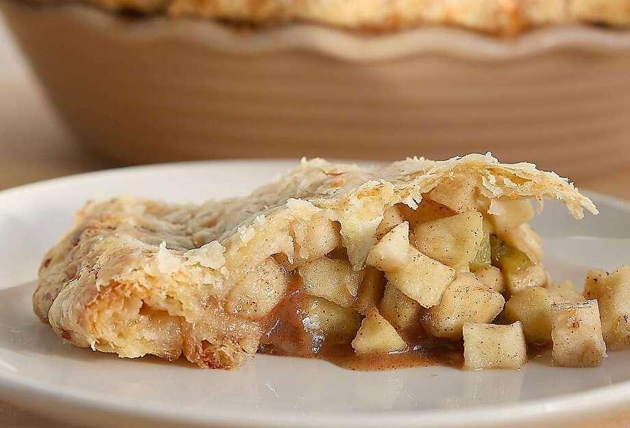 Aaron Toensing's green chile apple pie. Photo: Liz Hafalia, The Chronicle