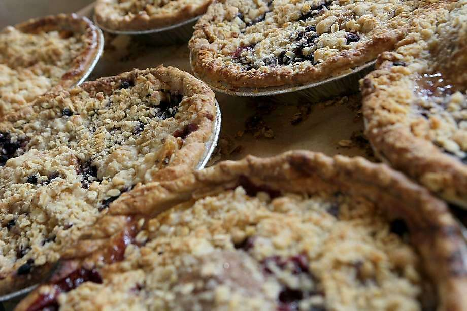 Pear-blueberry pies at Mission Pie. Photo: Santiago Mejia, The Chronicle (2015)