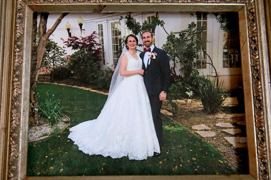 T.J. Shushereba and his wife Jennifer Gonzales on their wedding day. Photo: Michael Macor, The Chronicle