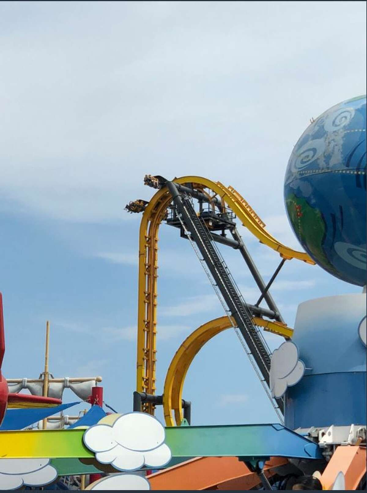 People were stuck at the top of Batman: The Ride at Six Flags Fiesta Texas for about 45 minutes on Tuesday, March 13, 2018 after a safety sensor went off.