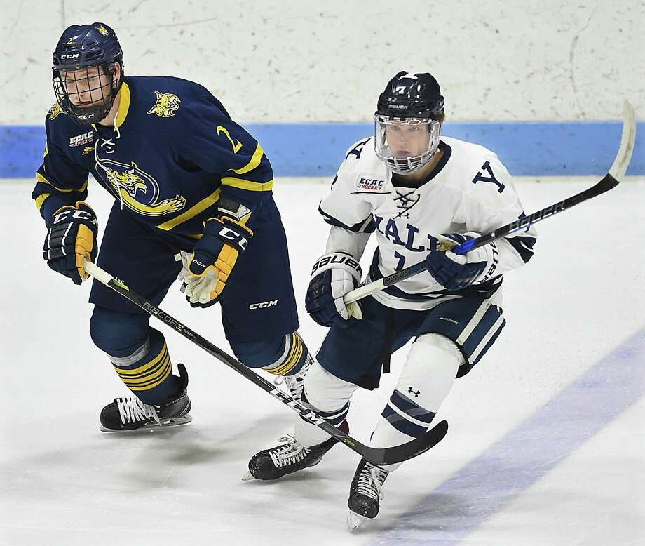 Yale junior Joe Snively (19 goals, 36 points) proved himself to be one of the ECAC's most dynamic players this season. Photo: Catherine Avalone / Hearst Connecticut Media / New Haven Register