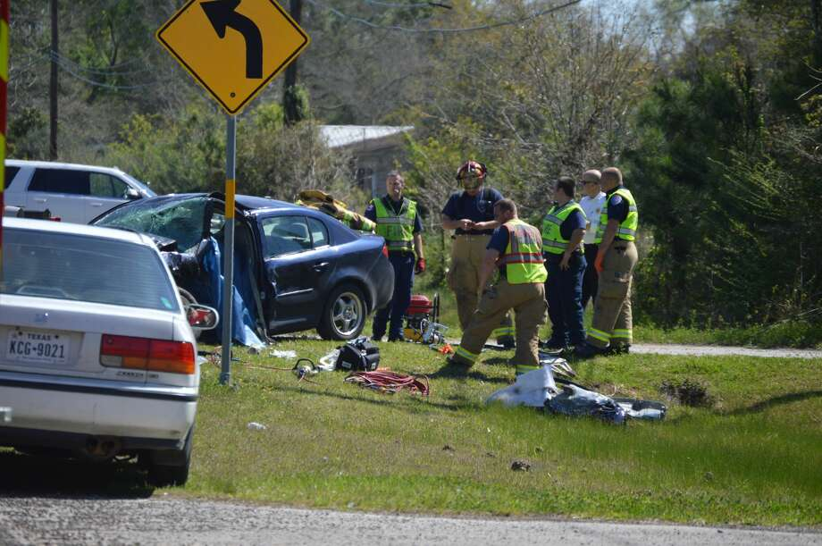 One man died after a wreck in Orange Tuesday, March 13, 2018. Photos provided by Eric Williams. Photo: Provided By Eric Williams