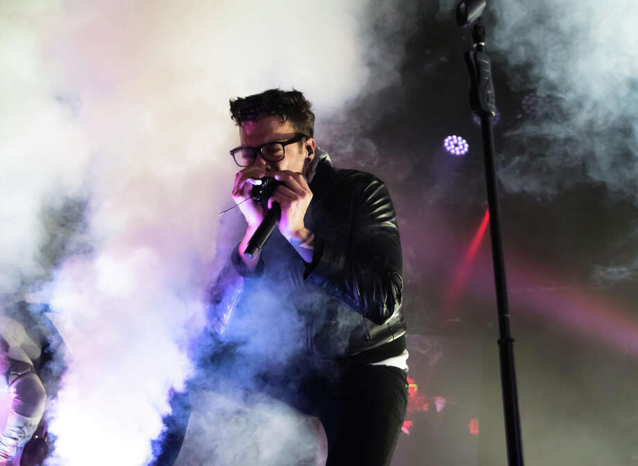 Starset's Dustin Bates performs at White Oak Music Hall on Sunday, March 11, 2018. Photo: Keith MacPherson