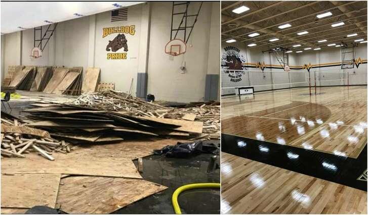 Schools like Brookside Intermediate School in Friendswood suffered extensive damage following Hurricane Harvey.