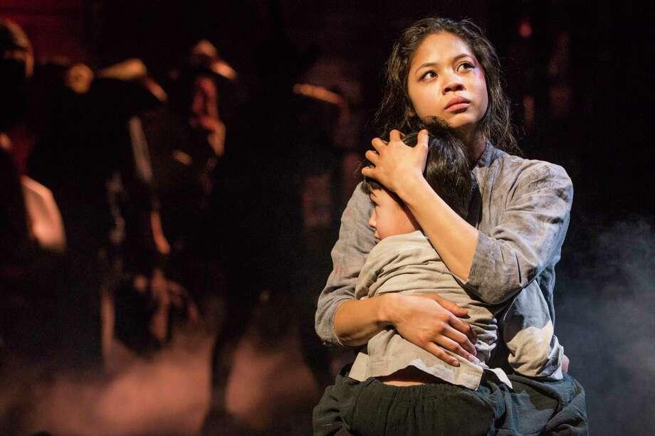"Eva Noblezada and Samuel Li Weintraub in a scene from the Broadway production of ""Miss Saigon."" Photo: Matthew Murphy"