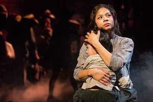 "Eva Noblezada and Samuel Li Weintraub in a scene from the Broadway production of ""Miss Saigon."""