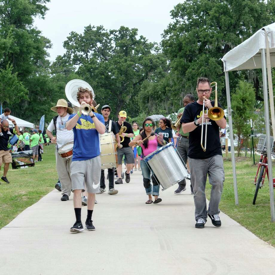 A marching band plays during Bayou Greenway Day. This year will be the fourth annual event. Photo: Houston Parks Board / Copyright © 2017 Tom Flaherty