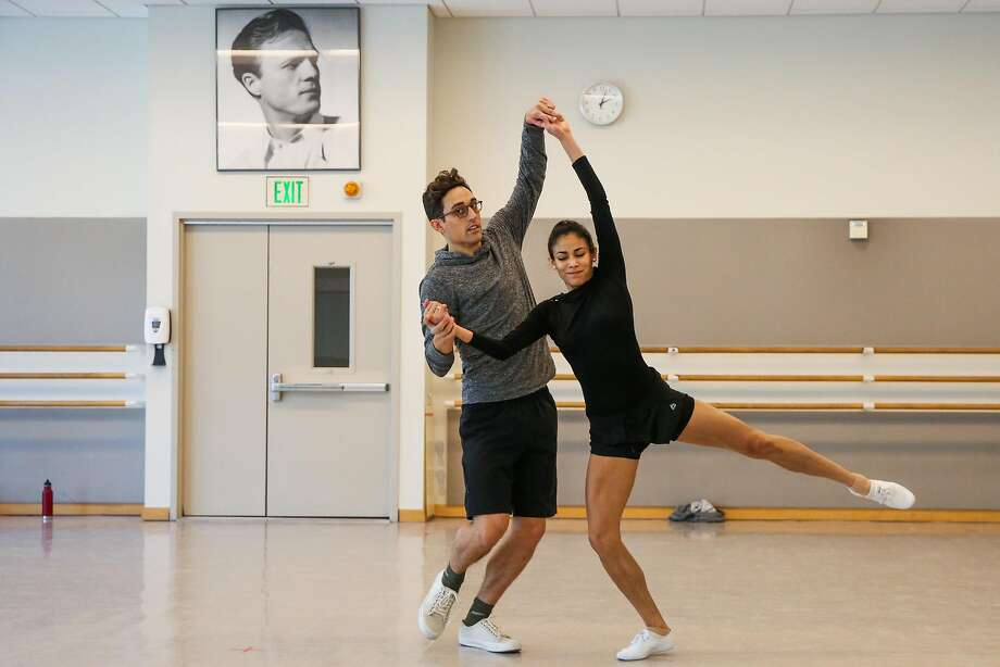 Choreographer Justin Peck (left) guides dancer Gabriela Gonzalez during rehearsals at the San Francisco Ballet on Aug. 16, 2017. Photo: Gabrielle Lurie / The Chronicle
