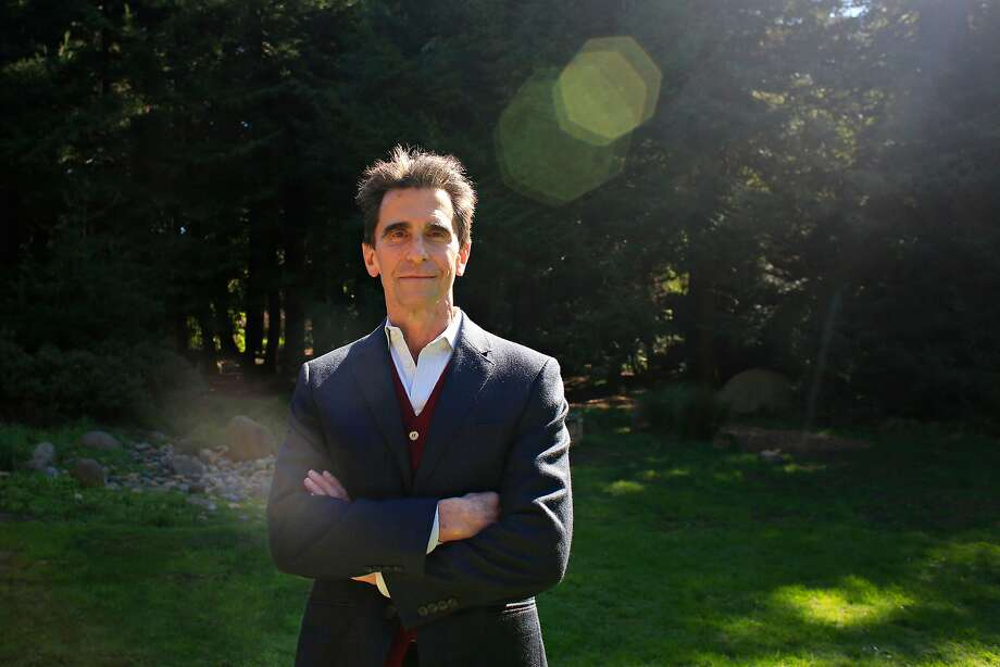 Mark Leno visits the AIDS Memorial Grove in Golden Gate Park. Photo: Lea Suzuki, The Chronicle