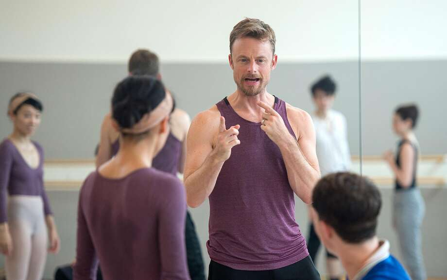 Choreographer Christopher Wheeldon rehearses with S.F. Ballet dancers last year. Photo: Josh Edelson / Special To The Chronicle 2017