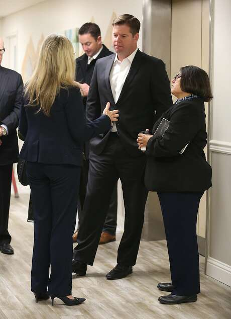 Mayor Mark Farrell during a tour of the Crestwood Healing Center earlier in March. Photo: Liz Hafalia, The Chronicle