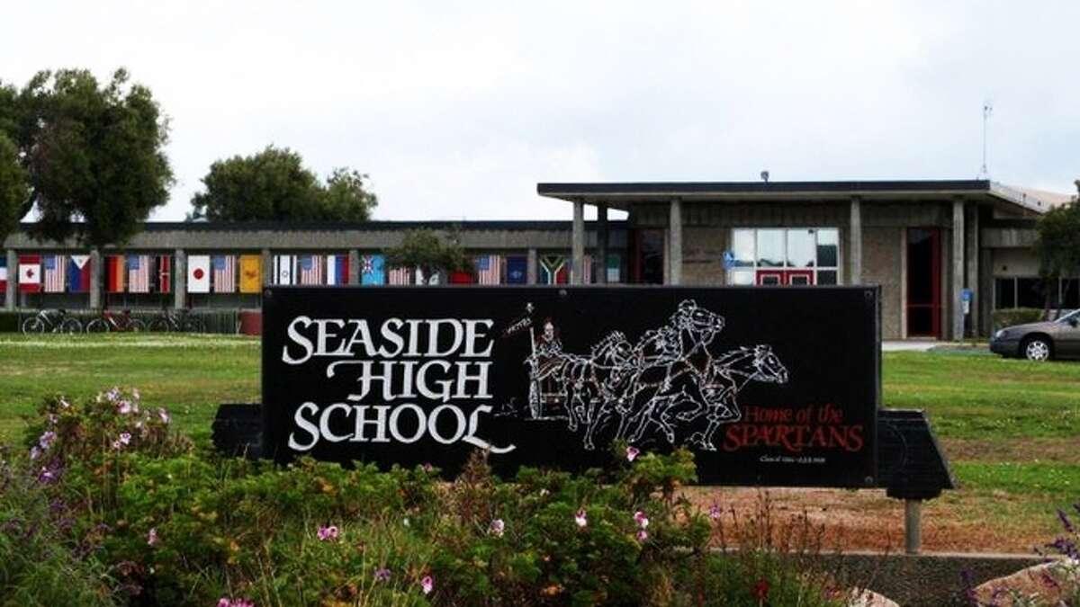 The exterior of Seaside High School.