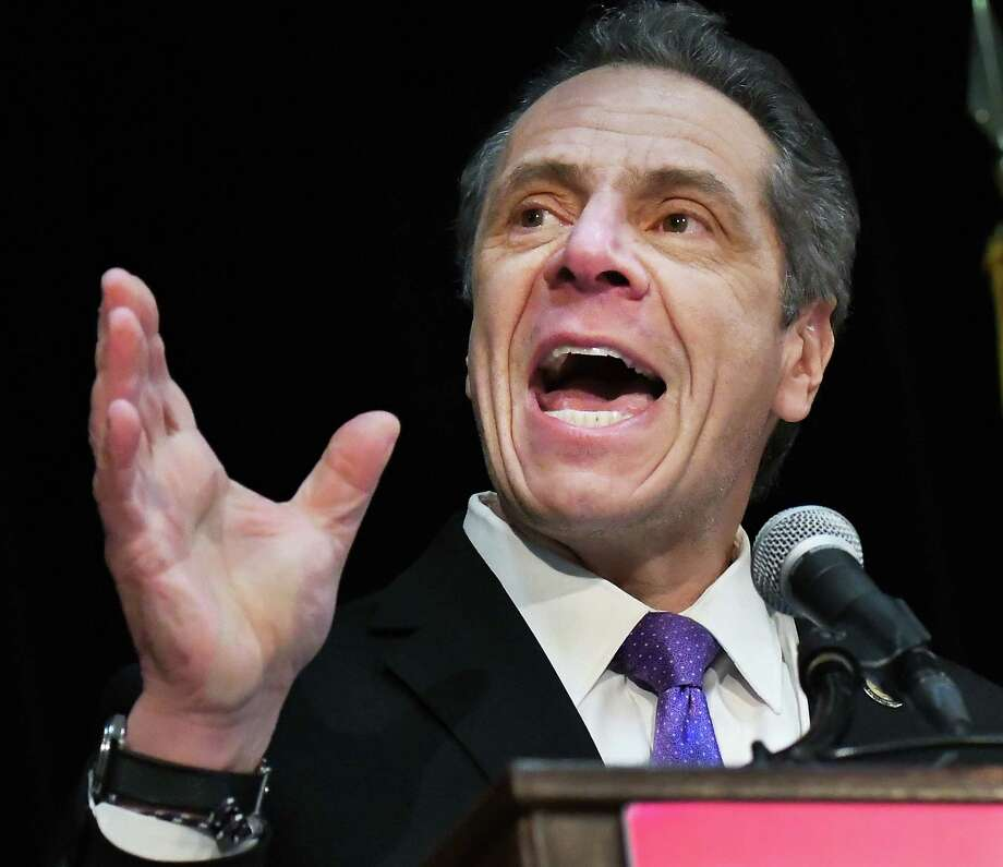 Gov. Andrew Cuomo speaks to NYS Planned Parenthood advocates during a rally at the Empire State Plaza Convention Center Tuesday March 13, 2018 in Albany, NY.  (John Carl D'Annibale/Times Union) Photo: John Carl D'Annibale / 20043197A