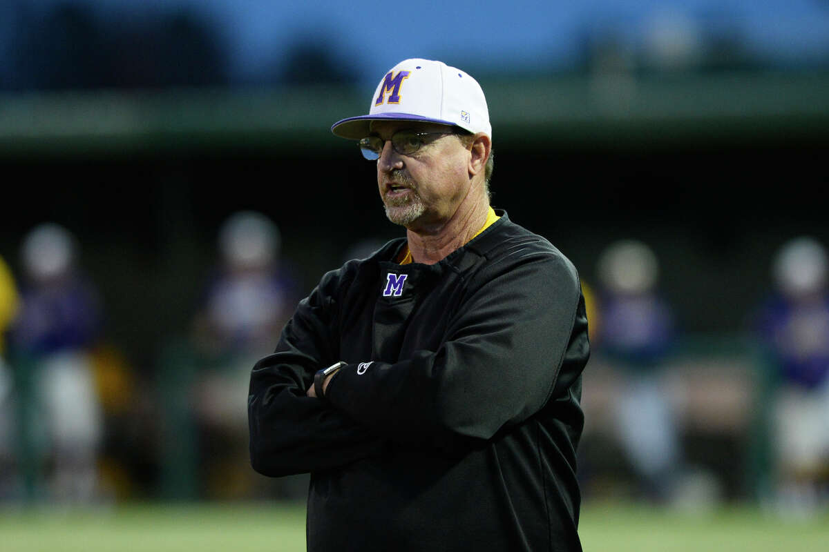 Midland High head baseball coach Barry Russell looks on during the game against Lee March 13, 2018, at Christensen Stadium. James Durbin/Reporter-Telegram